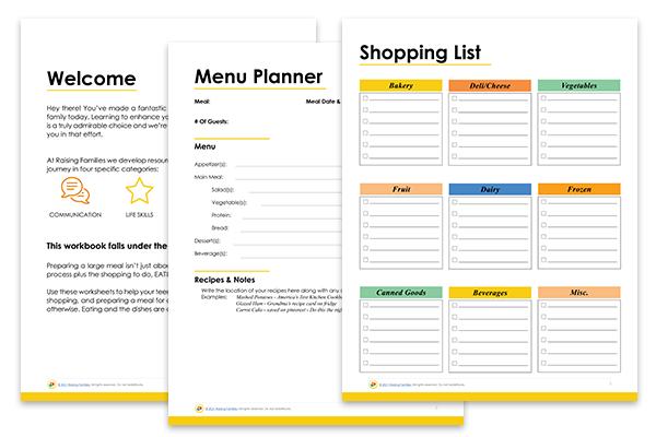meal planner printable for teens